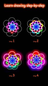 Learn To Draw Glow Flower تصوير الشاشة 2
