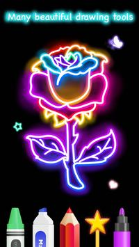 Learn To Draw Glow Flower تصوير الشاشة 3