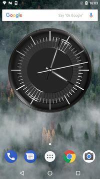 Classic Black Clock Widget poster