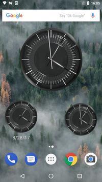 Classic Black Clock Widget screenshot 12