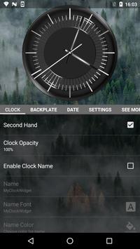Classic Black Clock Widget screenshot 2