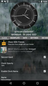 Classic Black Clock Widget screenshot 5
