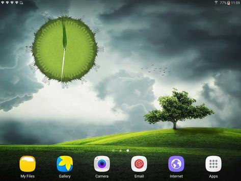 3D Cool Grass Clock Widget screenshot 14