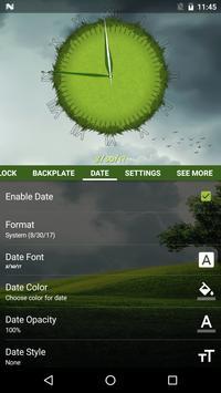 3D Cool Grass Clock Widget screenshot 16