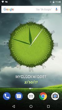 3D Cool Grass Clock Widget screenshot 8