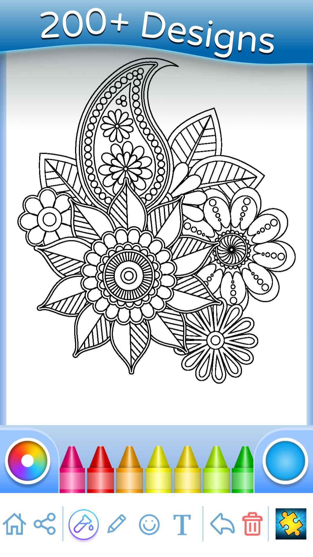 Flowers Mandala Coloring Book For Android Apk Download