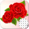 Roses Flowers Coloring - Color By Number_PixelArt आइकन