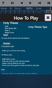 Forty Thieves Solitaire screenshot 3