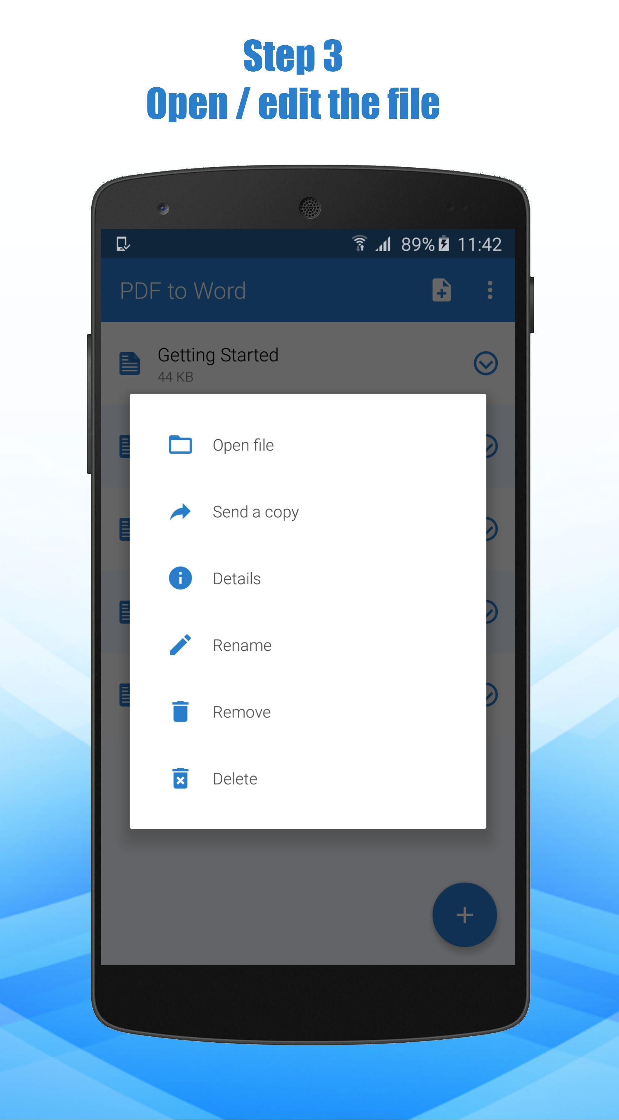 PDF to Word for Android - APK Download