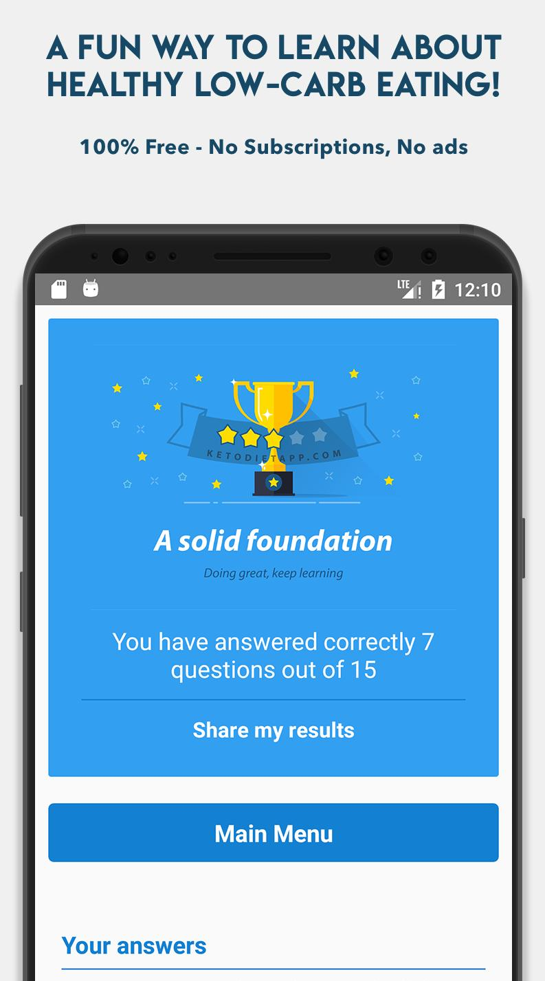 Keto Diet App Free Quiz for Android - APK Download