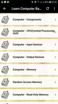 Basics of Computer in English screenshot 4
