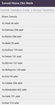 Zikirmatik Esmaül Hüsna screenshot 2