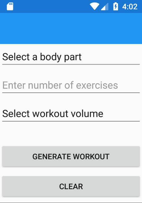 Random Body Part Workout Generator for Android - APK Download