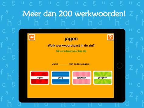 Oefenen met werkwoorden screenshot 5