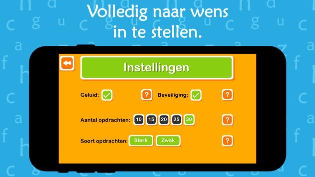 Oefenen met werkwoorden screenshot 1