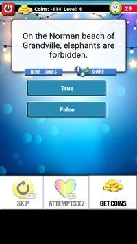 True or False Questions screenshot 23