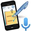 Notatki o zadaniach-Notatnik,lista,wejście głosowe ikona