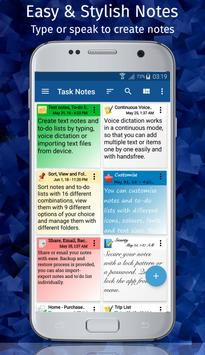 TASK NOTES - Notepad, List, Reminder, Voice Typing poster