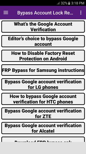 Bypass Account Lock Remove Guide for Android - APK Download