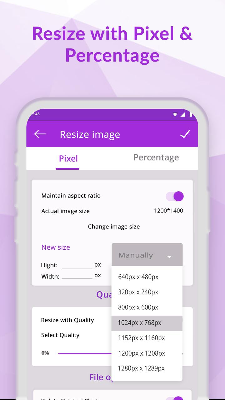 Compress jpeg, png: Reduce image size for Android - APK Download