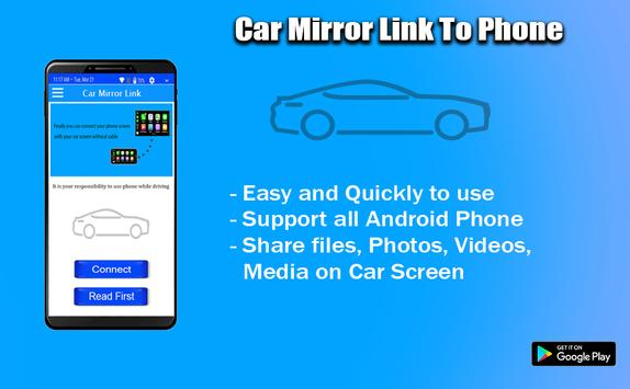 Mirror Link Phone to car poster