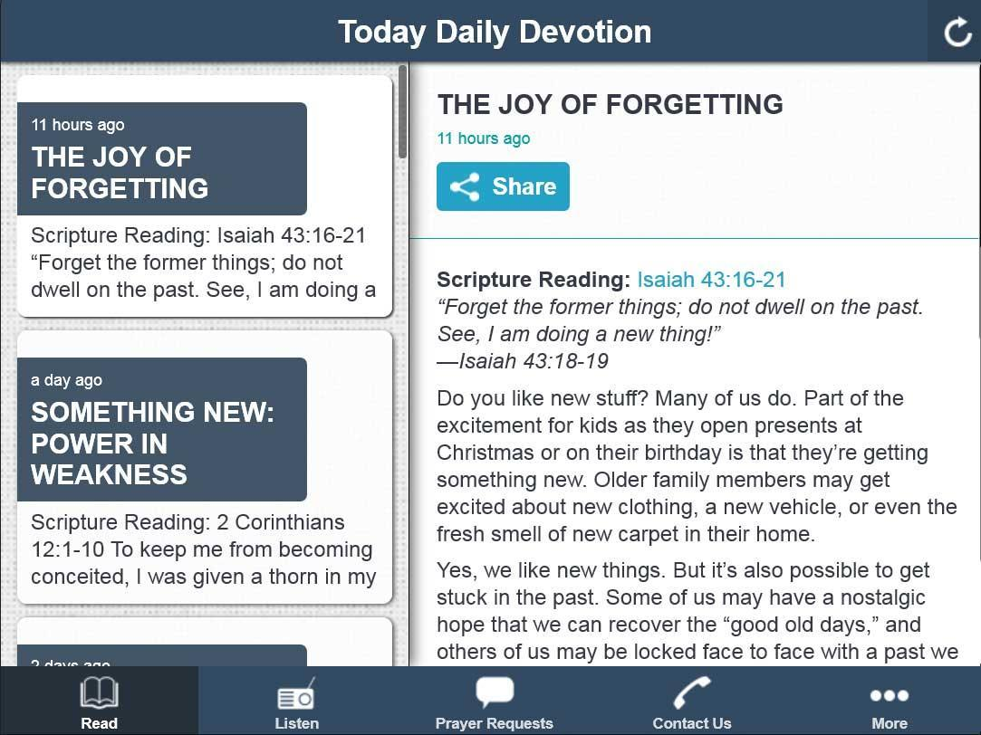 Today daily Bible devotional poster