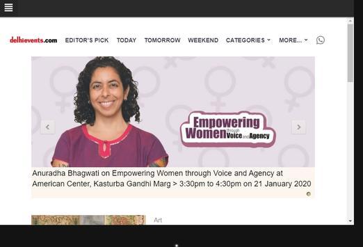 Delhi Events screenshot 2