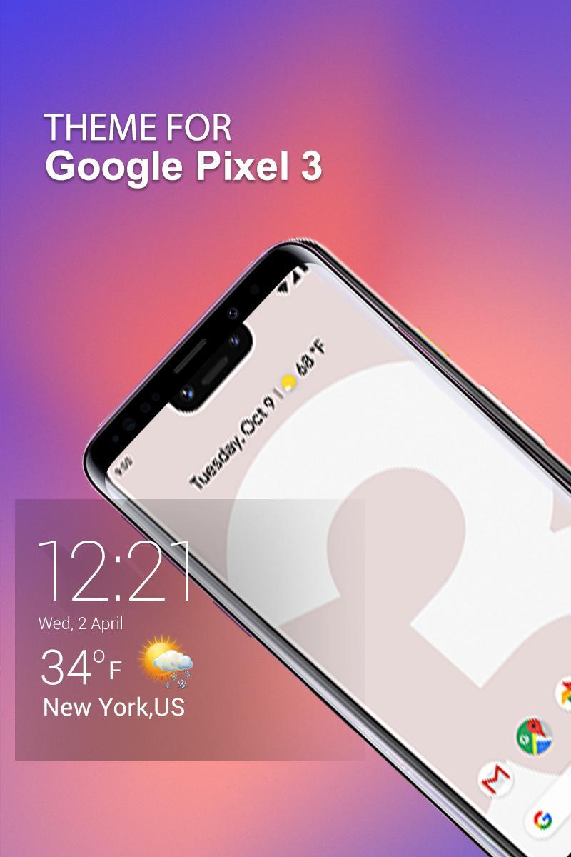 Android 用の Google Pixel 3のテーマ Apk をダウンロード