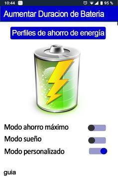 Aumentar duración de la batería del celular - guía poster