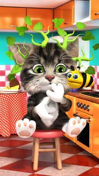 Talking cat Bob - cute talking baby cat screenshot 1