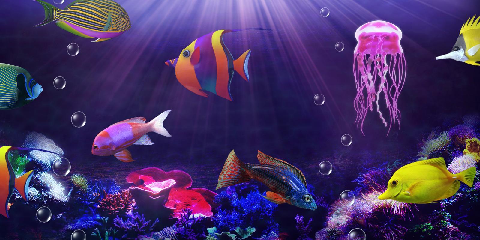 движущаяся картинка с рыбками на телефон