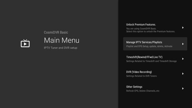 Cosmi DVR - Android TV için IPTV PVR Ekran Görüntüsü 5