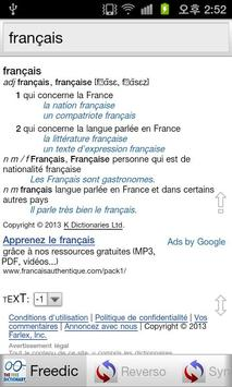 Dictionnaires Français screenshot 2