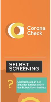 Corona Check-poster