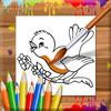 鳥著色書 圖標