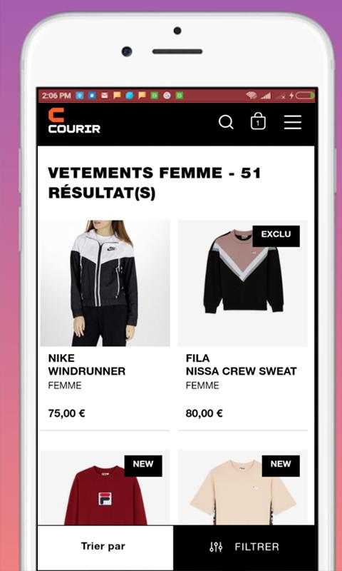 crazy price timeless design presenting Courir: Online Shopping for Android - APK Download