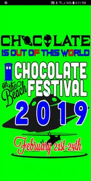 Chocolate on the Beach Festival poster