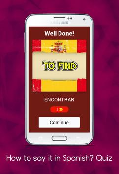 How to say it in Spanish? Learn Spanish Quiz! screenshot 1