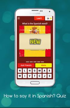 How to say it in Spanish? Learn Spanish Quiz! screenshot 2