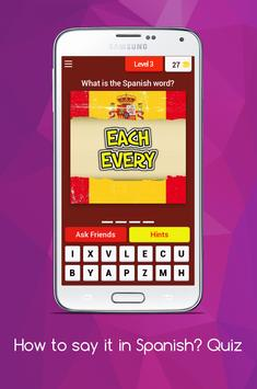How to say it in Spanish? Learn Spanish Quiz! screenshot 3