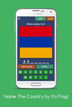Name The Country by it's Flag! screenshot 1