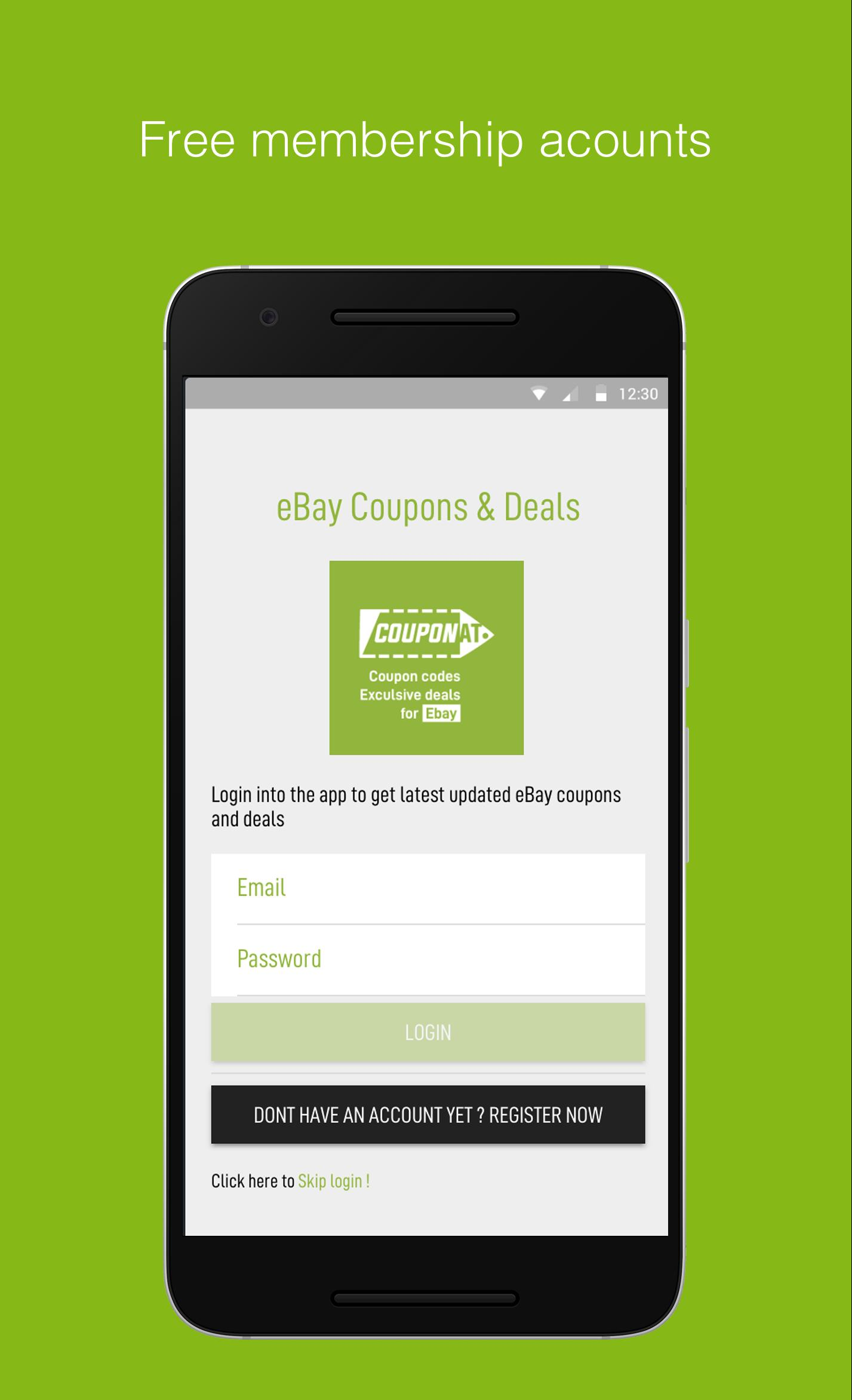 Coupons For Ebay Promo Codes And Deals By Couponat For Android Apk Download