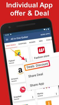 All In One Shopping - Quiker App poster