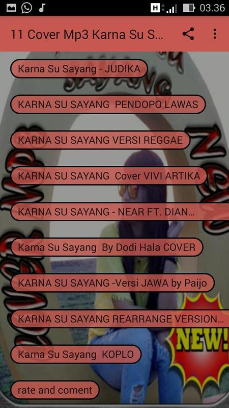 download lagu karna su sayang cover dangdut koplo