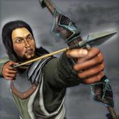 ikon Busur panah perang benteng pertahanan