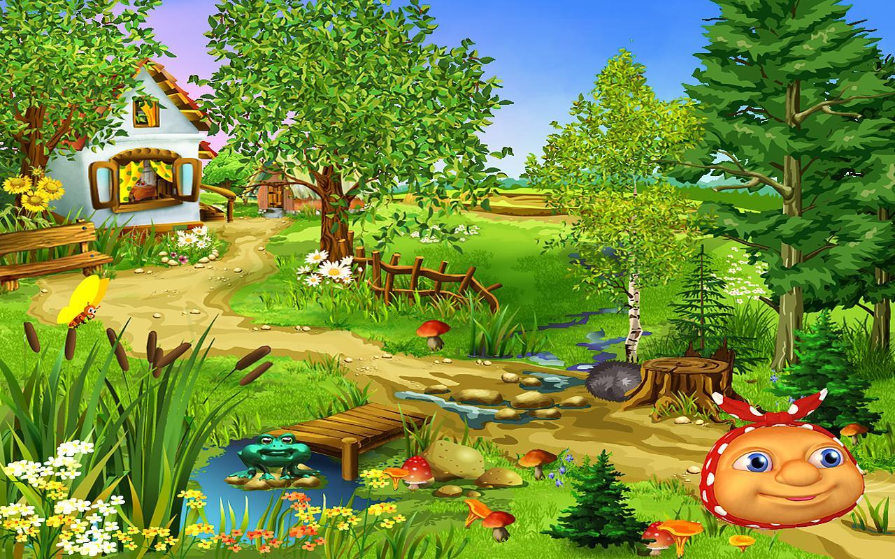 Картинки на лесной поляне для детей, сделать открытку