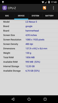 CPU-Z ảnh chụp màn hình 1