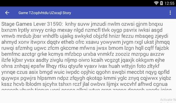 Game TZcqdvhtdu UZscajl Story screenshot 2
