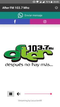 After FM 103.7 Mhz poster