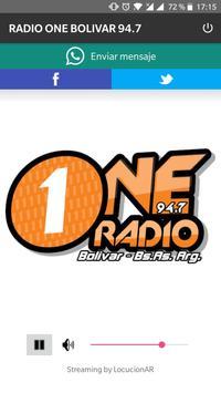RADIO ONE BOLIVAR 94.7 poster